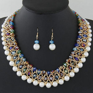 Vintage Pearl and Beads Jewelry Set