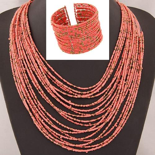 African Multi-Bead Jewelry Sets