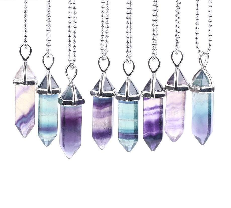 Natural Healing Gem Pendulum Necklaces
