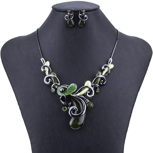 Water Drop Swirl Jewelry Sets