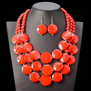 African Bold Bead Jewelry Set