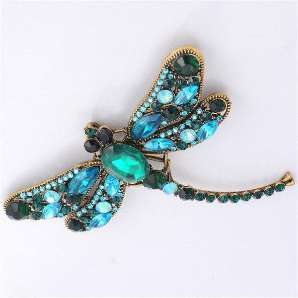 Crystal Sprinkle Dragonfly Brooches