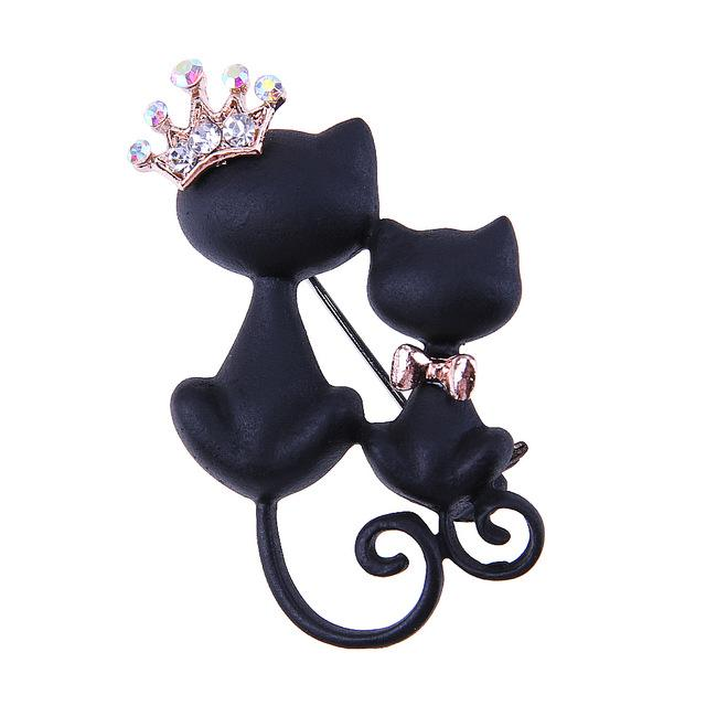 Black Cat Queen Brooch
