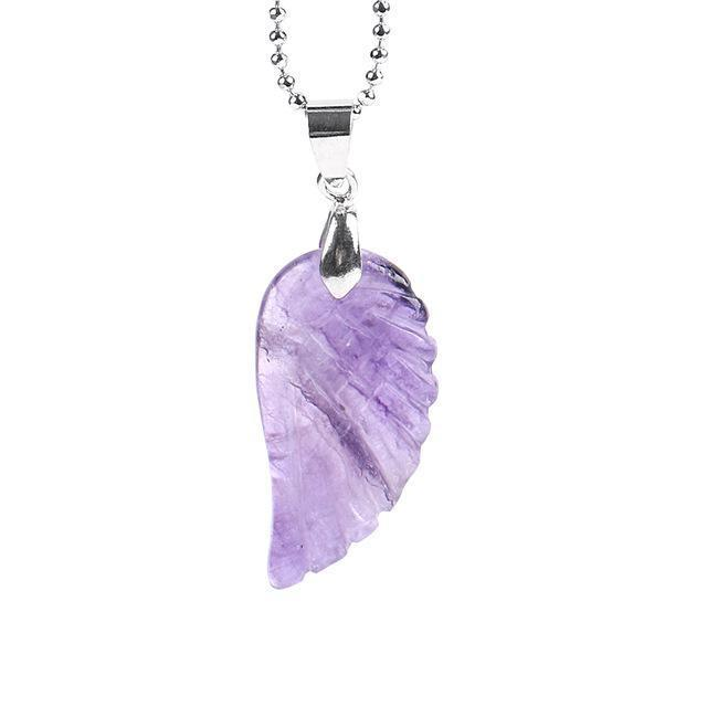 Gem Stone Angel Wing Necklace