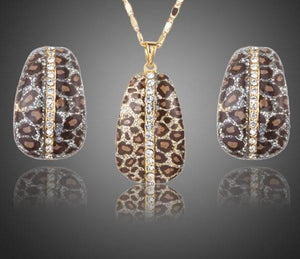 Leopard Drop Jewelry Set