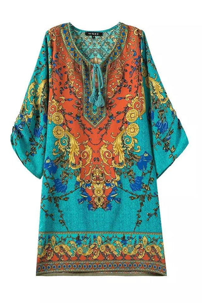 Indian Turquoise Bikini Cover Up