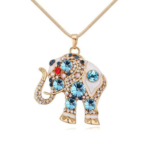 Elephant Crystal Necklaces