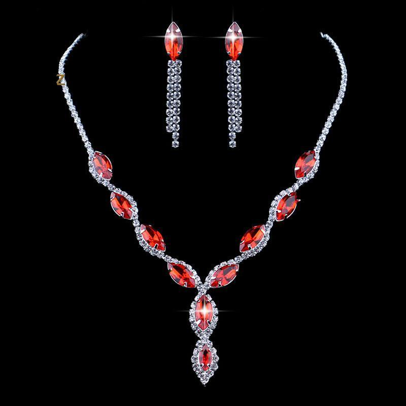 Ruby Twist Jewelry Set