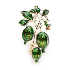 Green Olives Brooch