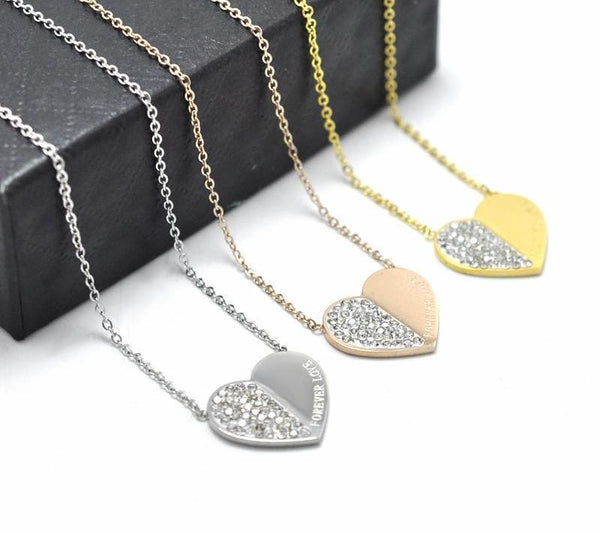 Forever Love Heart Necklaces