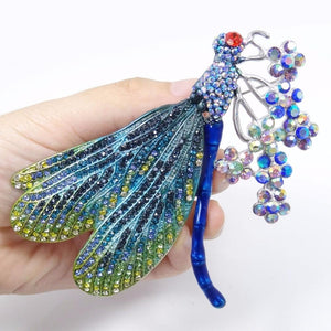 Stunning Crystal Dragonfly Brooches