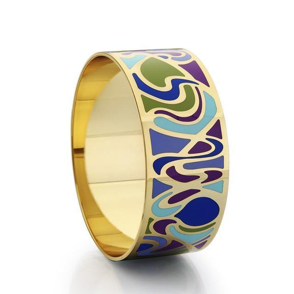 Abstract Enamel Cuff Bracelet