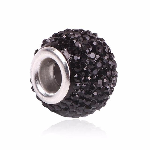 Chic Black Bobble Charm