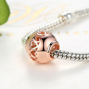 Heart Rose Ring Charm