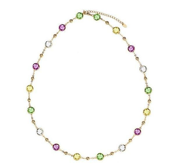 Crystal Rainbow Bead Necklace