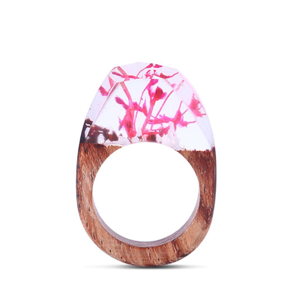 Pretty In Pink Wooden Rings