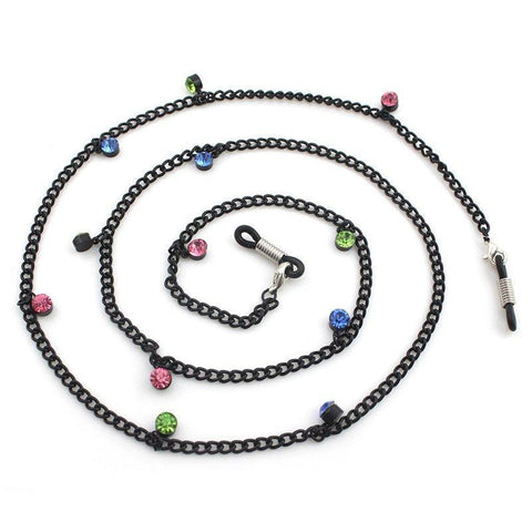 Rainbow Crystal Charm Eyeglass Chain