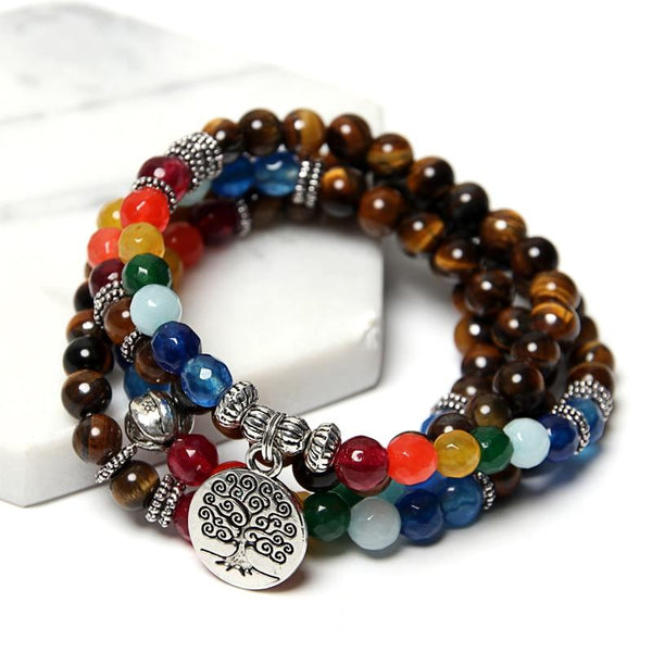 Rainbow Tree of Life Bracelet