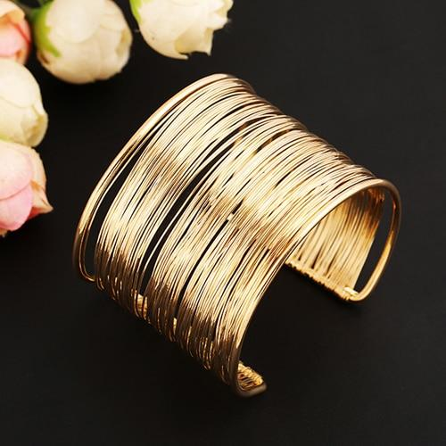 Multi-Wire Chic String Cuff Bracelet