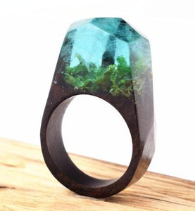 Sea Serenity Wooden Rings