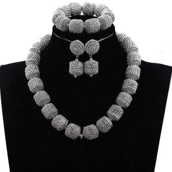 African Wedding Beads Jewelry Sets
