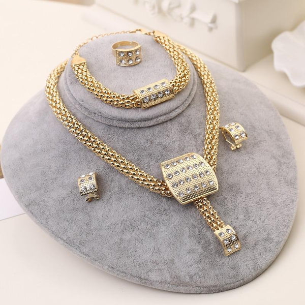African Style Crystal Jewelry Sets