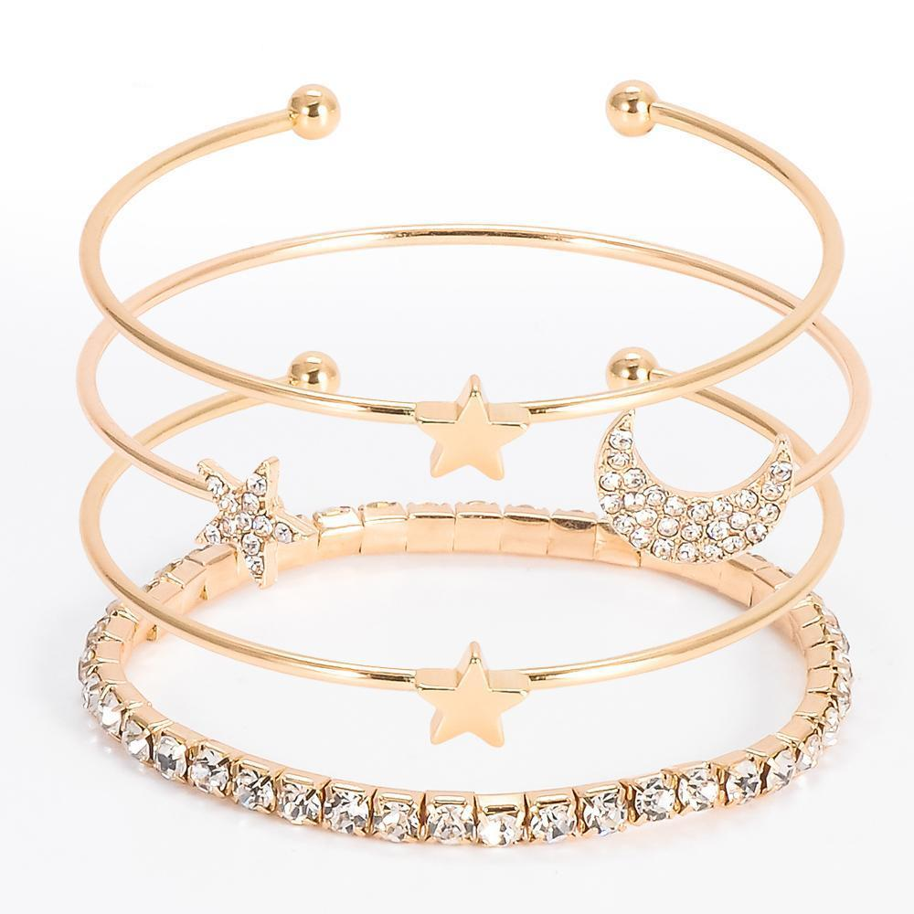 Star & Moon Bangle set