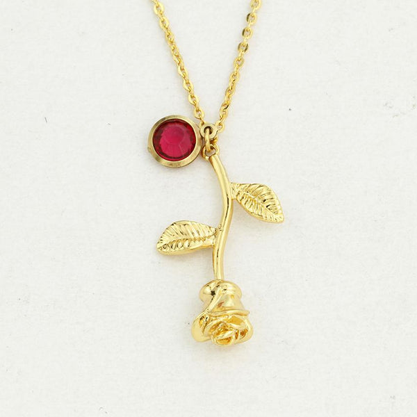 Rose Birthstone Necklaces