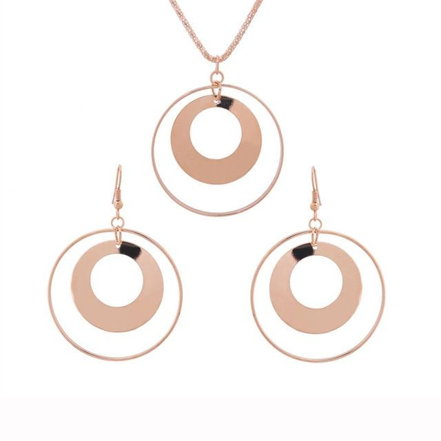 Retro Hoop Jewelry Set