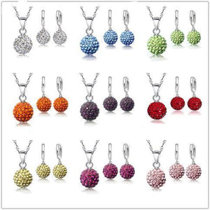 Crystal Disco Ball Jewelry Set