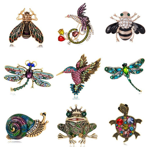 Animal Enamel Brooches