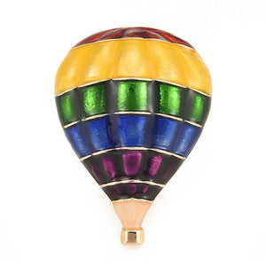 Rainbow Balloon Brooch