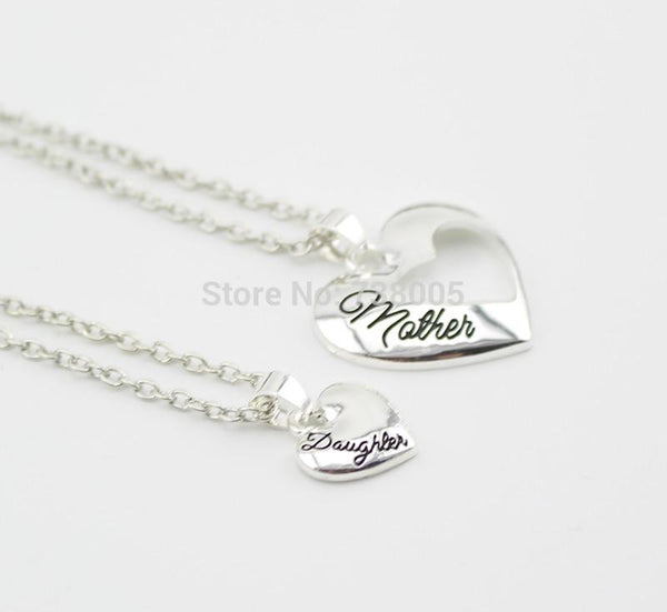 Mother Daughter Pendant Necklaces