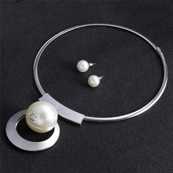 African Pearl Disc Style Choker