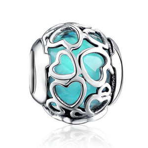 Love Heart Blue Charm