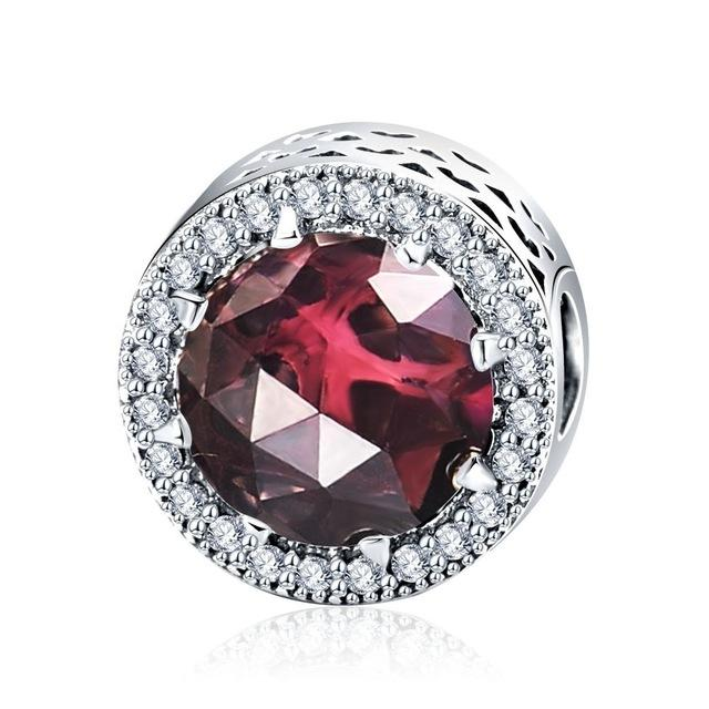 Ruby Button Charm