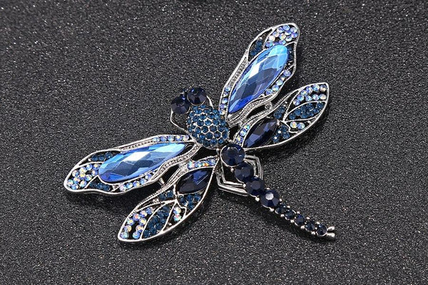 Vintage Sparkle Winged Dragonfly Brooch