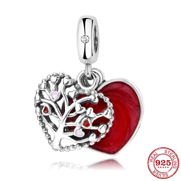 Tree of Life Love Heart Charm