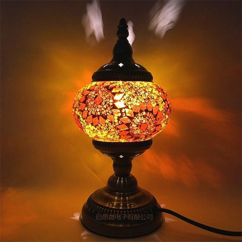 Bohemian Mediterranean Mosaic Table Lamps