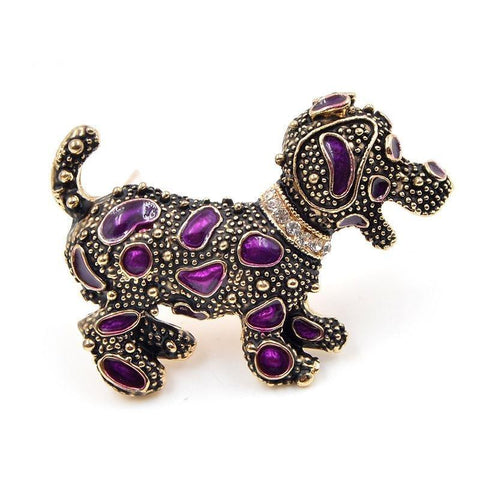 Vintage Styled Dog Brooches