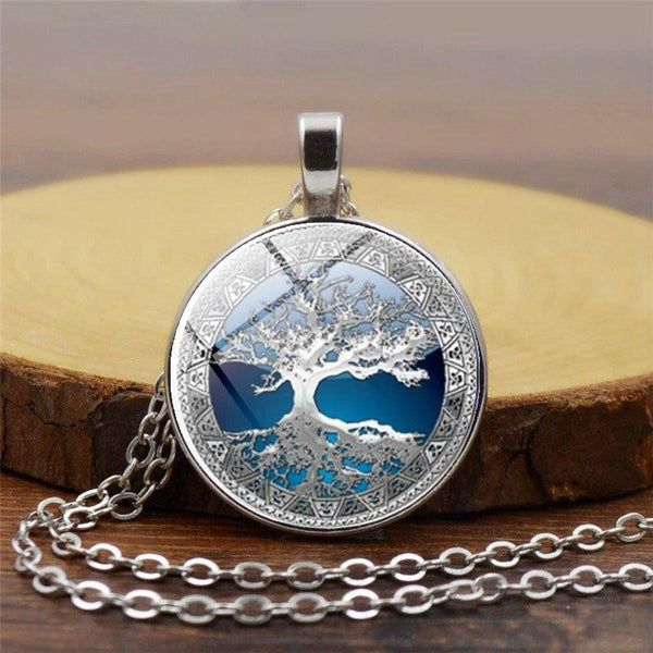 Sky Blue Tree of Life Pendants
