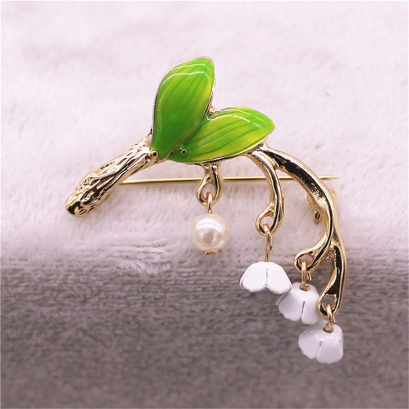 Lily Orchid Brooch