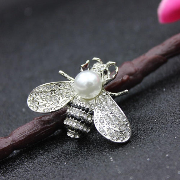 Vintage Bee Pearl Brooches