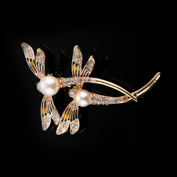 Double Dragonfly Brooch