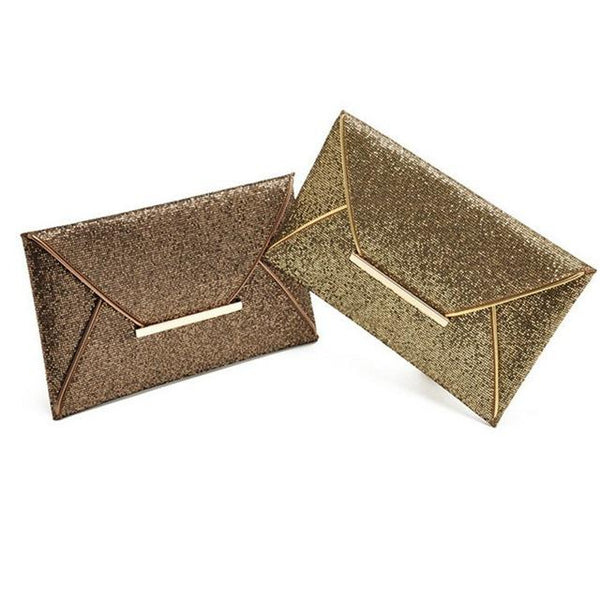 Shimmer Envelope Clutch bag