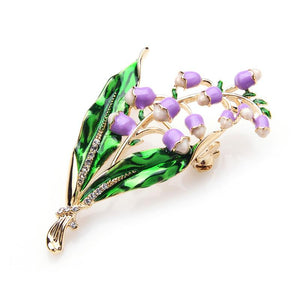 Lavender Flower Brooches
