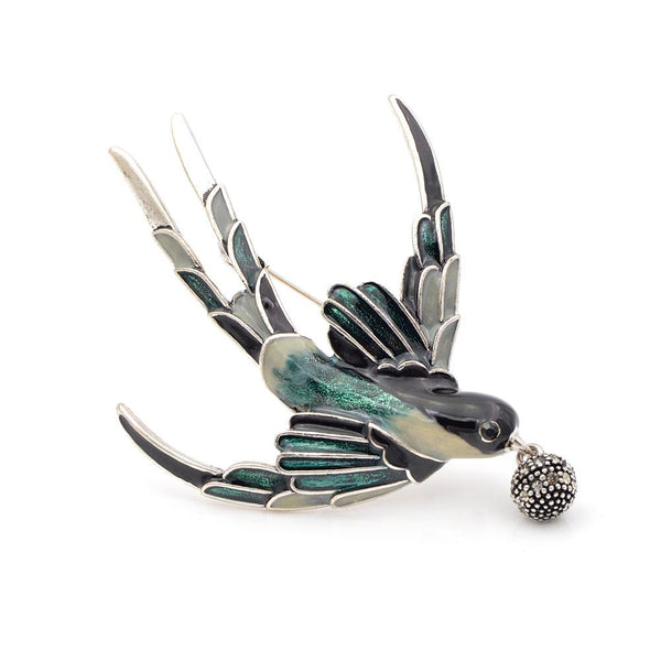 Swallow Messenger Brooch