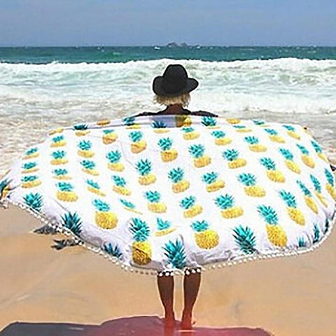 Pineapple Print Beach Towels