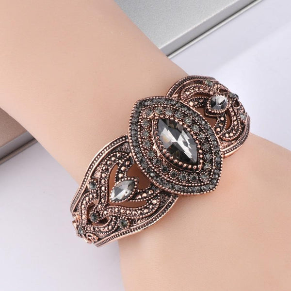 Antique Crystal Cuff Bracelet