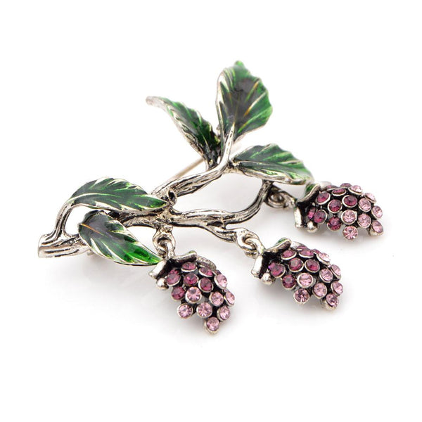 Vintage Grape Branch Brooch